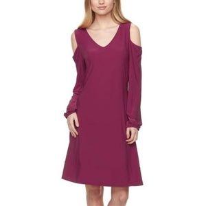 Nina Leonard NWT Cold Shoulder Swing Dress